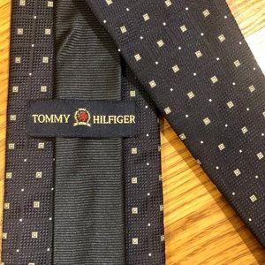 Tommy Hilfiger Silk Navy Blue Tie